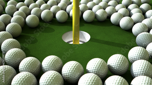 Golf Ball Hole Assault
