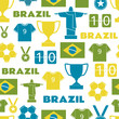 Brazil Football Seamless Pattern