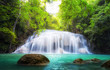Tropical waterfall in Thailand, nature photography
