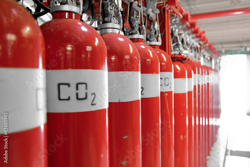 Large CO2 fire extinguishers - 63660943