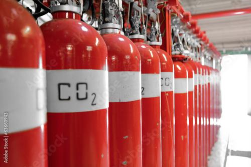 Large CO2 fire extinguishers - 63660943