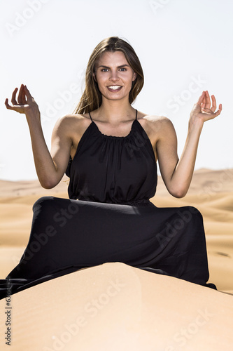 Asana in the desert