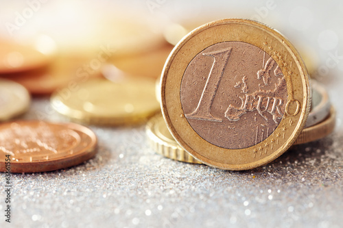 Euro Money .Euro coins .Selective focus.
