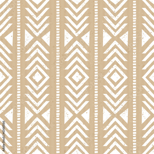Seamless Cardboard Paper Tribal Background - 63661566