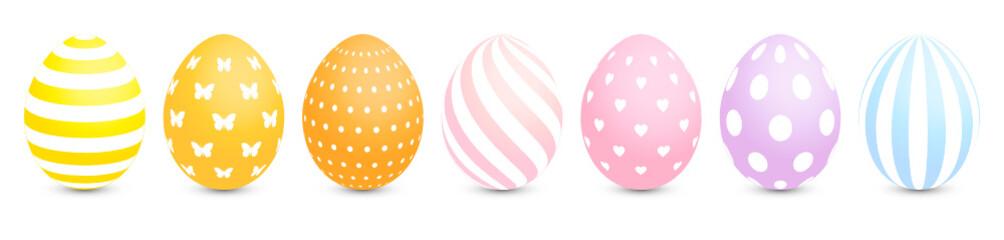 7 Easter Eggs Pastel Pattern