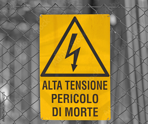sign for danger high voltage attention in large power station 3