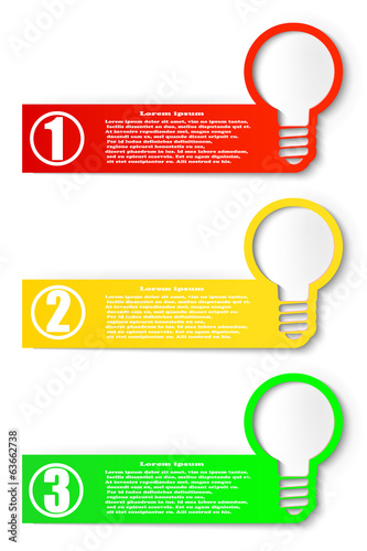 Set of colored banners. Design elements for web