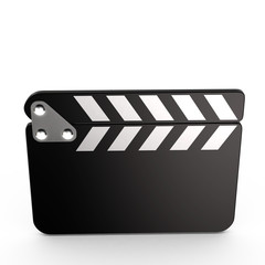 Closed movie clapper board, 3d