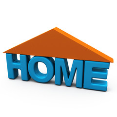 Home icon, 3d