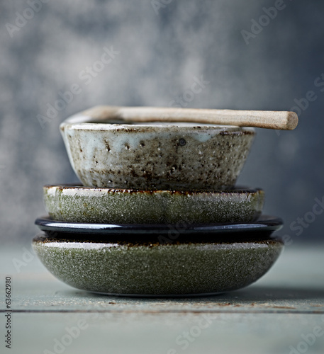 Still Life with Traditional Japanese Ceramic