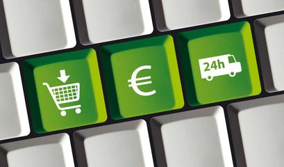 Online Shop Prinzip - kaufen, bezahlen, liefern