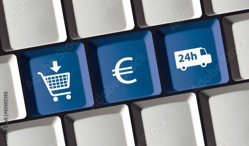 Leinwanddruck Bild Online Shop Prinzip - kaufen, bezahlen, liefern