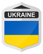 Ukraine - Silver shield icon with national flag