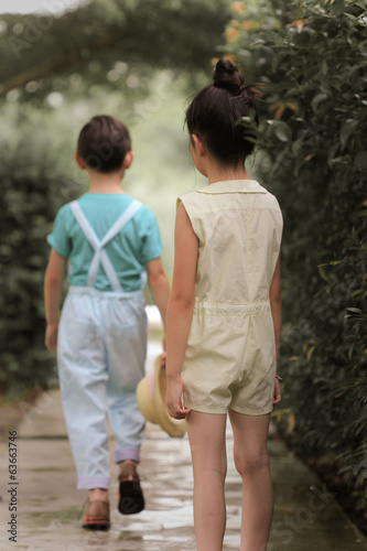boy walking away from girl leaving