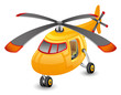 Orange helicopter. - 63663979