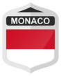 Monaco - Silver shield icon with national flag