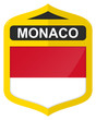 Monaco - Golden shield icon with national flag