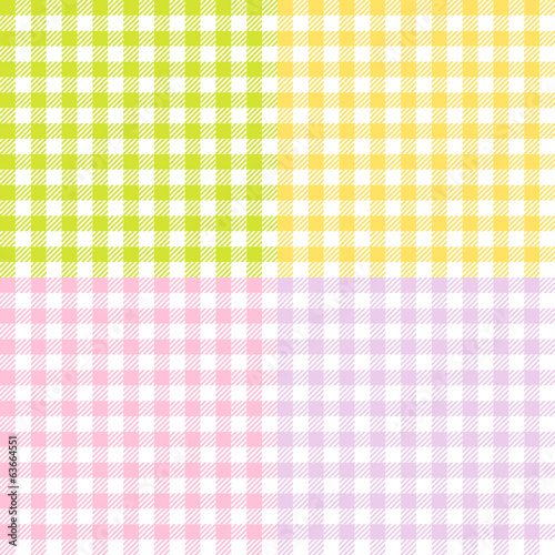 Seamless Check Pattern Mix Easter Colors