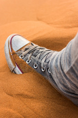 shoes in the Sahara