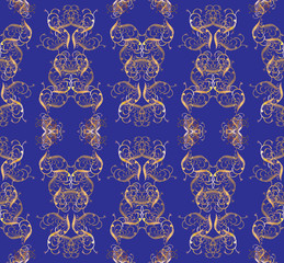Seamless golden pattern