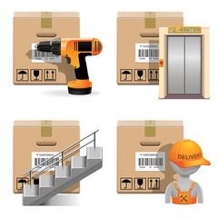 Vector Shipment Icons Set 30