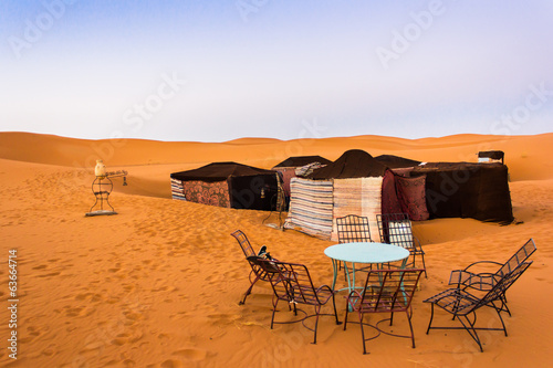 Camp in the Sahara