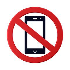 スマートフォン使用禁止のアイコン