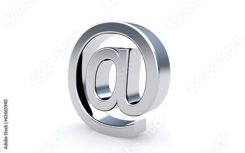 Email sign icon on the white.