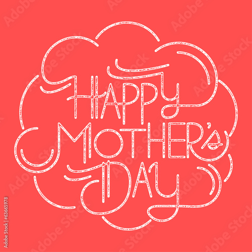 happy mother's day custom typography card