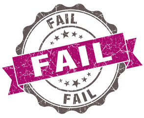 Fail violet grunge retro vintage isolated seal