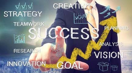 Businessman with success concept
