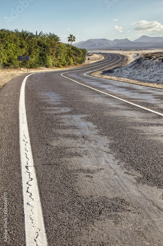 Curvy road in desert