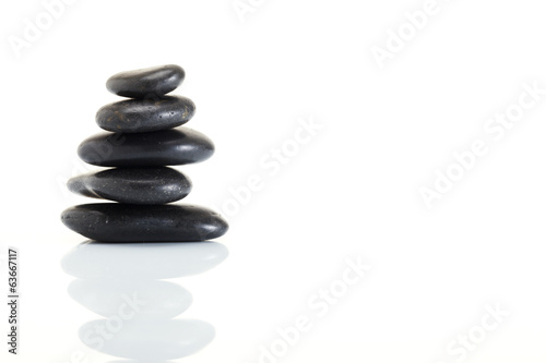 Stack of spa hot stones