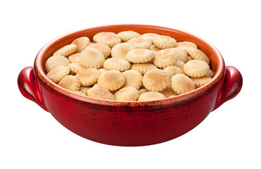 Oyster Crackers isolated