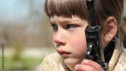 Boy with gun,boy playing weapon,little warrior