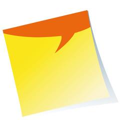 Post-it,Haftzettel,Notizzettel,Sprechblase,Textfläche