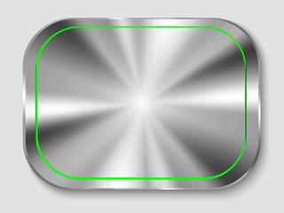 rectangular metal button
