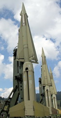 military intercontinental missiles ready for launch from the lau