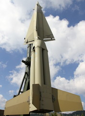 rocket with military explosive warhead