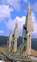 military intercontinental missiles ready for launch