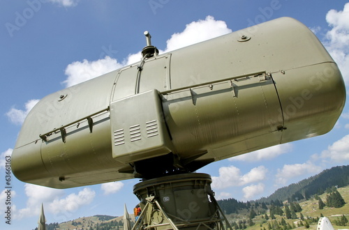 canvas print picture military camouflage huge radar 2