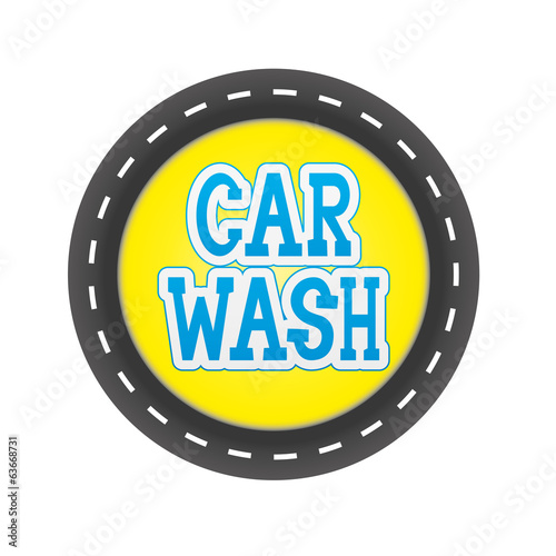 Vector sign. Car wash.