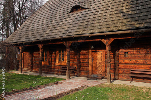old wooden traditional house