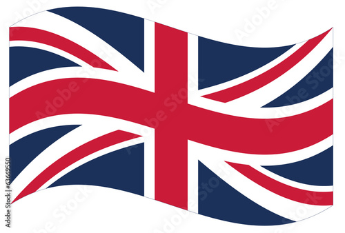 Waving flag of Great Britain isolated. Vector EPS8