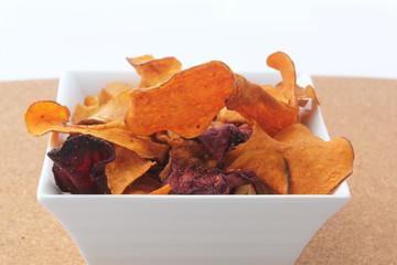 Chips de légumes variés