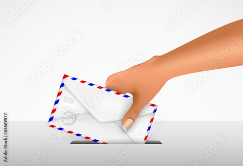 sending a letter in an envelope
