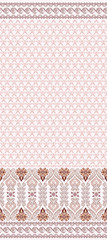 seamless abstract pattern with wide border in pastel brown color