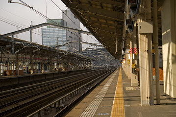 Railway station, Fukushima, Japan