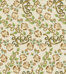 zigzag pattern in brown and green tones