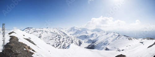 Panoramic view of Italian Alps